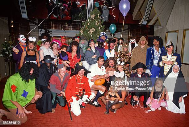 Members of the England Touring Party and their families in fancy dress for their Christmas lunch in Melbourne Australia 25th December 1990 England...