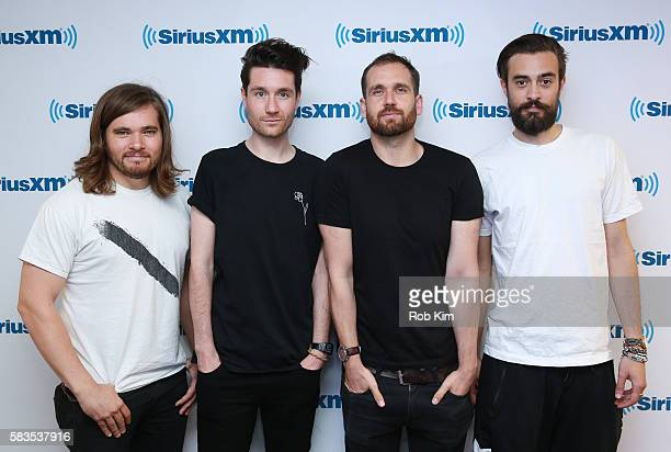 Members of the English indie rock band 'Bastille' Chris Wood Dan Smith Will Farquarson and Kyle Simmons visit at SiriusXM Studio on July 26 2016 in...
