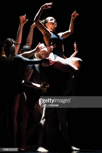 Members of the Estonian National Ballet perform during a dress rehearsal at the Tramway on November 16 2018 in Glasgow Scotland The Estonian National...