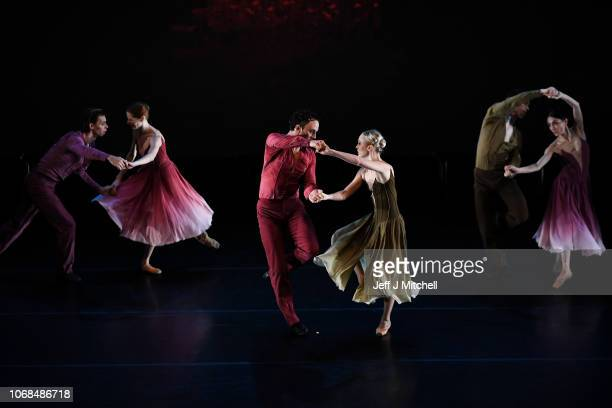 Members of the Estonian National Ballet perform during a dress rehearsal at the Tramway on November 18 2018 in Glasgow Scotland The Estonian National...
