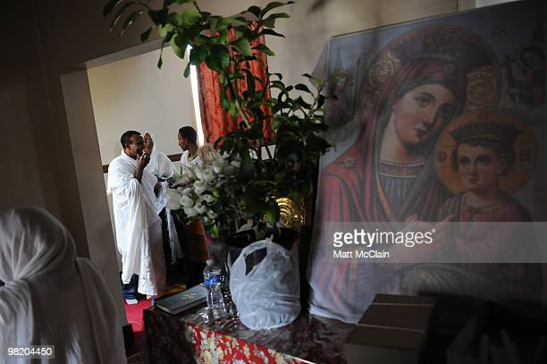 Members of the Ethiopian Orthodox Church observe Holy Thursday April 1 2010 in Denver Colorado Members of the Ethiopian Orthodox Church celebrated...