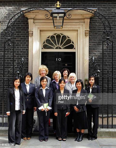 Members of the Ethnic Woman's delegation from the Burma Campaigns UK Zoya Phan Hlaing M M Sein Meg Munn MP Nang Seng Glenys Kinnock MEP Moe Bu Nicole...