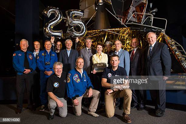 Members of the European Association of Space Explorers and the crew from the Soyuz TM11mission JeanLoup Chretien JeanPierre Haignere Michel Tognini...