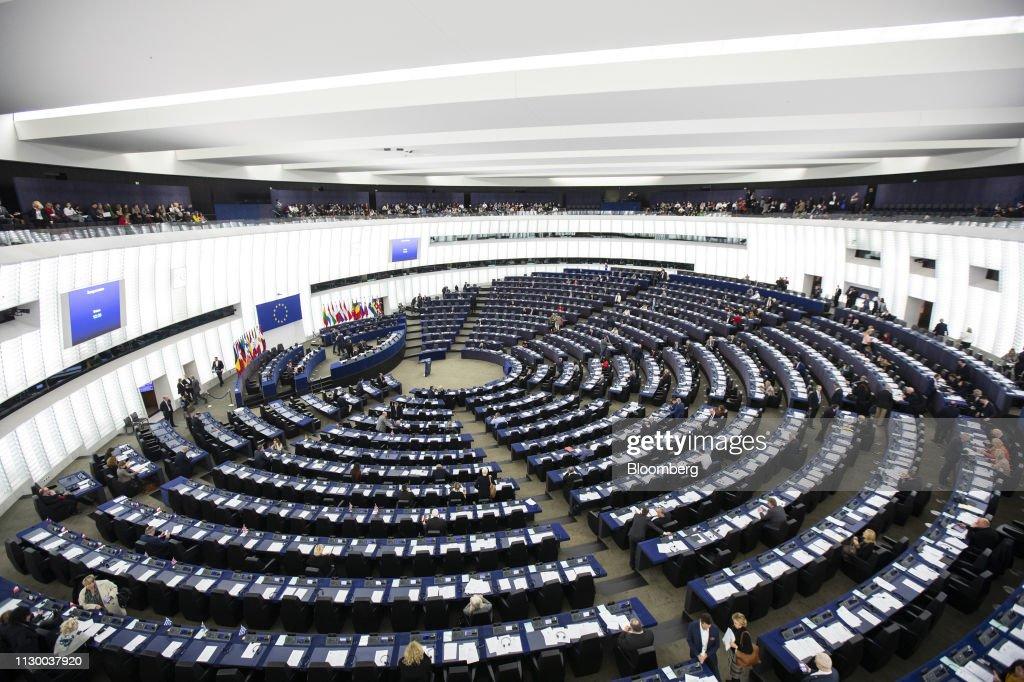 Future of Europe Plenary Session Ahead of European Parliament Election : News Photo