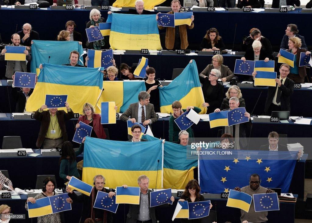 FRANCE-EU-UKRAINE-PARLIAMENT-POLITICS : News Photo