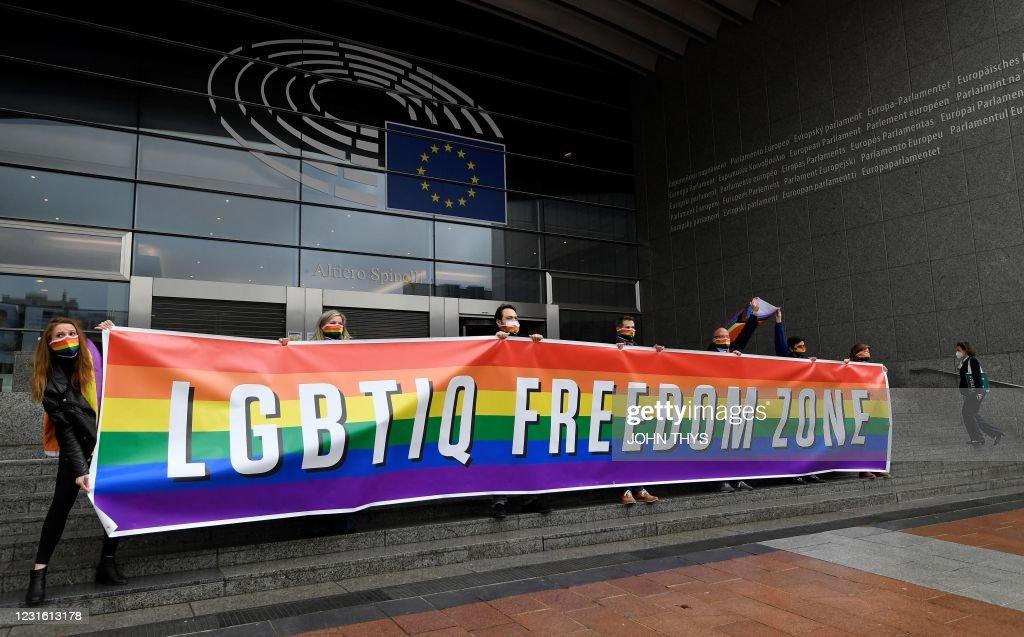 BELGIUM-EU-POLITICS-MINORITIES : News Photo