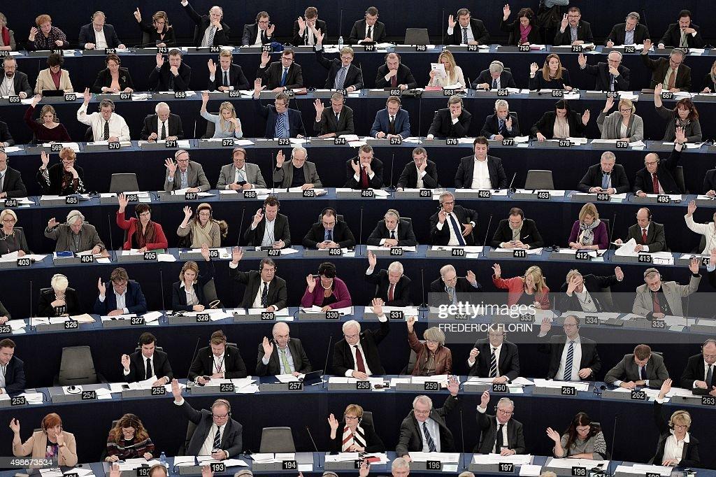FRANCE-EU-PARLIAMENT-POLITICS : News Photo