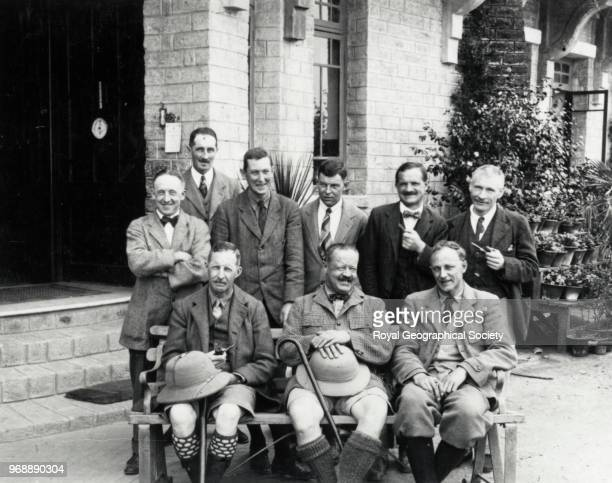 Members of the expedition outside Mount Everest Hotel in Darjeeling China 20th March 1922 Mount Everest Expedition 1922