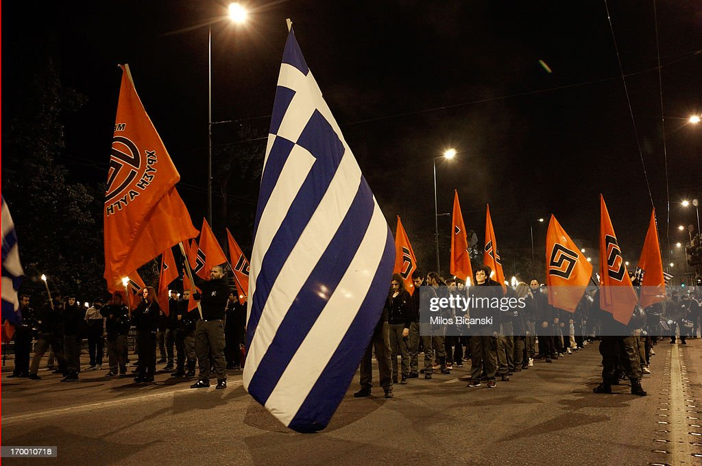 The Rise Of The Far Right Political Movement Golden Dawn : News Photo