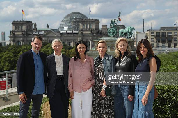 Members of the Fashion Council Germany Marcus Kurz Christiane Arp Annita Tillmann Claudia Hofmann MarieLouise Berg and Mandie Bienek at the Embassy...