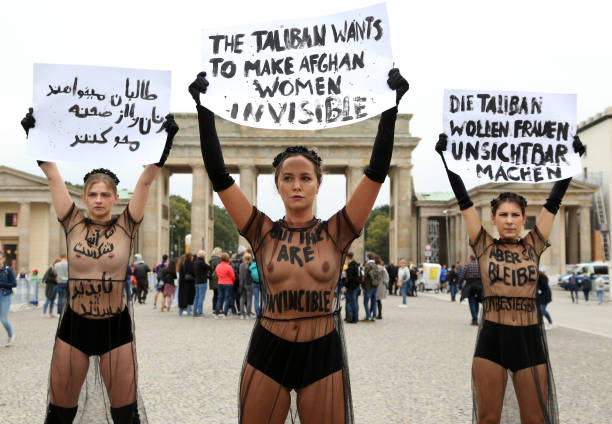 DEU: Femen Supporters Protest For Afghan Women's Rights