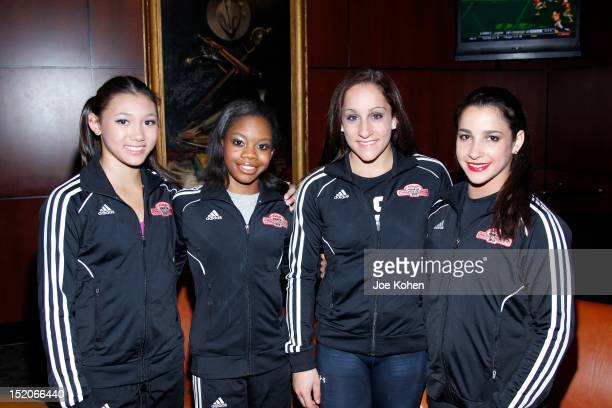 Members of The Fierce Five Olympic gold medalist Kyla Ross Gabby DouglasÊJordyn Wieber and Aly Raisman at Kellogg's Tour Of Gymnastics Champions...