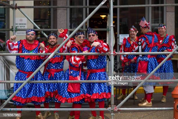 Members of the Finnegan brigade participate in the Philadelphia Mummers Parade a New Years Day tradition Hundreds of performers comics and musicians...