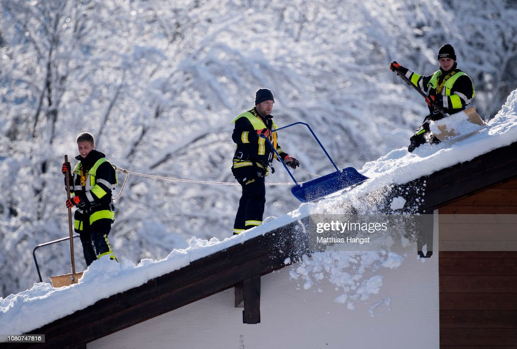 Austria And Southern Germany Inundated With More Snow : News Photo
