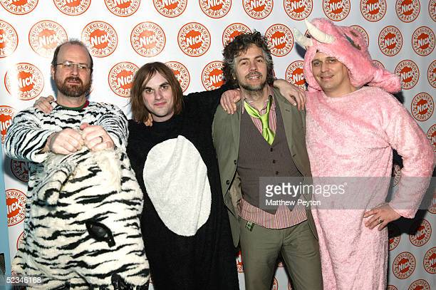 Members of the Flaming Lips including singer Wayne Coyne attend the Nickelodeon Upfront 2005 at the Roseland Ballroom March 9 2004 in New York City