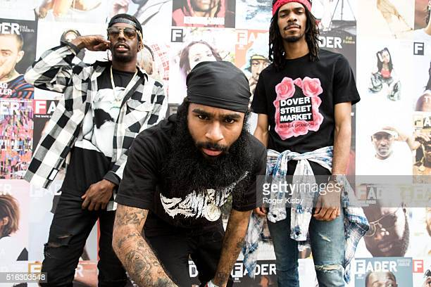 Members of the Flatbush Zombies attend the FADER FORT presented by Converse during SXSW on March 17 2016 in Austin Texas