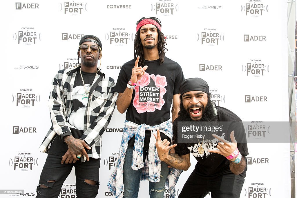 Members of the Flatbush Zombies attend the FADER FORT presented by Converse during SXSW on March 17, 2016 in Austin, Texas.