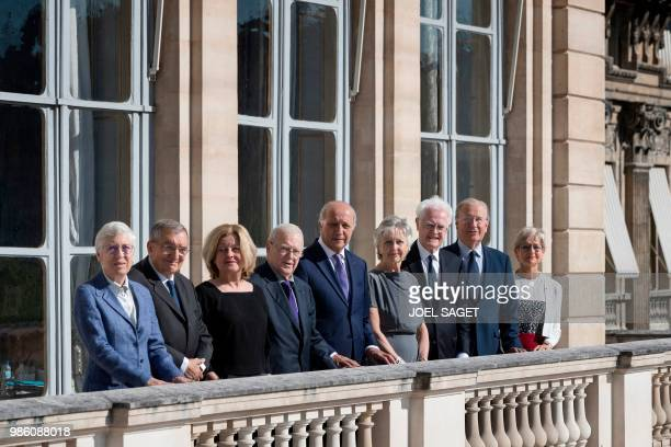 Members of the French Constitutional Council Dominique Lottin Michel Pinault Lionel Jospin Claire BazyMalaurie the president Laurent Fabius Michel...