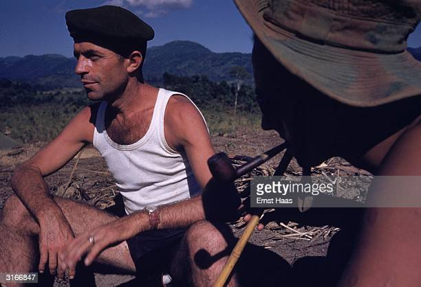 Members of the French Foreign Legion at Dien Bien Phu in north-west Vietnam, the site of a major battle between the French and the Vietminh in 1954....