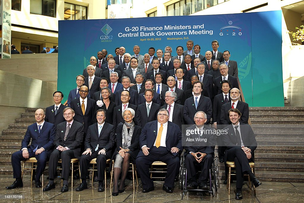 G 20 finance ministers meet at imf world bank spring conference members of the g 20 finance ministers and central bank governors pose for a group sciox Images