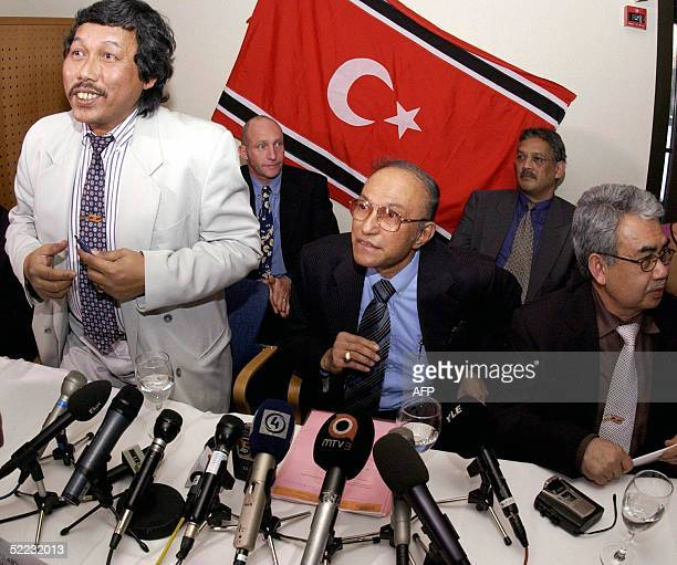 Members of the GAM the ACEH province separatist rebels Information officer Bakhtiar Abdullah Free Aceh Movement's exiled leader Prime Minister Malik...