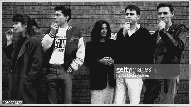 Members of the gay community have adopted the use of Whistles to alert people of attacksFrom L to R Karen Booth Aldo Spina Nellie stamp Glenn Palmer...