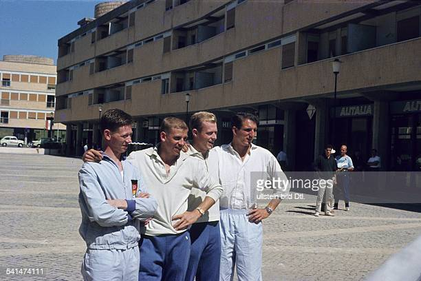 Members of the German 4x100m relay running team at the Olympic Games in Rome From left Bernd Cullmann Armin Hary Walter Mahlendorf Martin Laue 1960