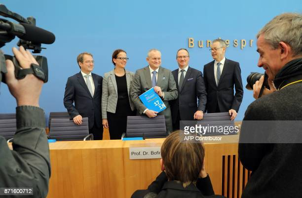 Members of the German Council of Economic Experts on the country's economic development Volker Wieland Isabel Schnabel chairman Christoph Schmidt...