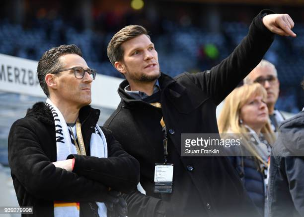 Members of The German National team Fan club prior to the international friendly match between Germany and Brazil at Olympiastadion on March 27 2018...