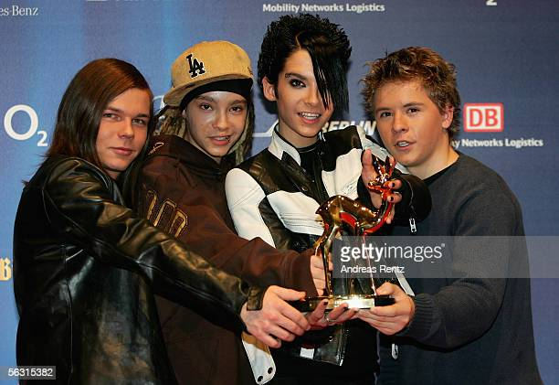 Members of the German teen band Tokio Hotel received the Bambi Award in category Pop National at the 57th annual Bambi Awards at the International...