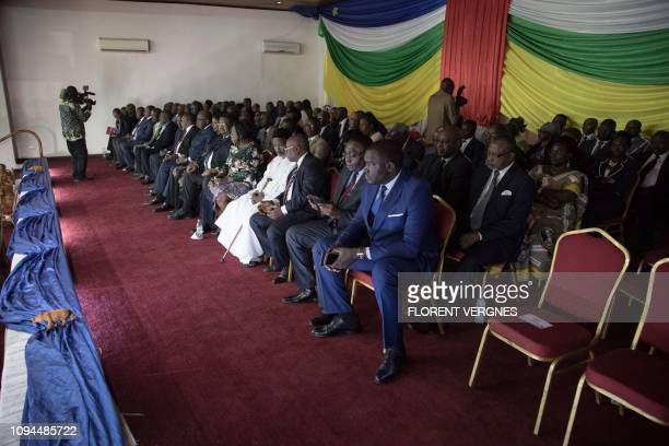 Members of the Government of the Central African Republic attend the signing ceremony of the socalled Khartoum Agreement peace agreement in Bangui on...