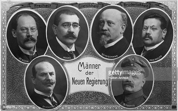 Members of the government of the Weimar Republic including Socialist Gustav Noske who put down the Spartacist uprising and conspired in the 1944 plot...