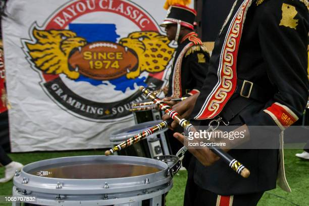 """Members of the Grambling State """"World Famed"""" band marches into the stadium during the 45th annual State Farm Bayou Classic game between the Southern..."""