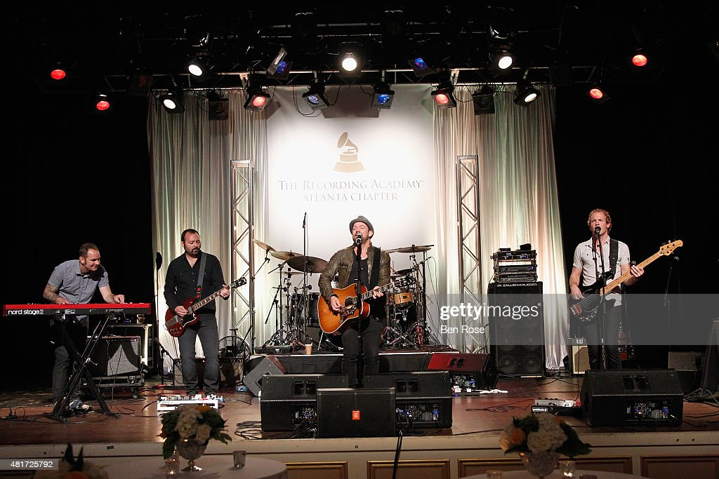 Members of the GRAMMY Allstar Band perform during the GRAMMY Atlanta Chapter Member Party at The Buckhead Theater on July 23, 2015 in Atlanta, Georgia.