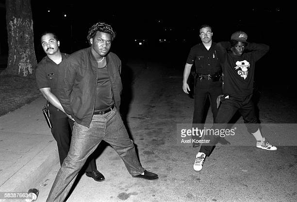 Members of the Grape Street Crips are apprehended by the LAPD CRASH unit for questioning The Grape Street Watts Crips are a mostly African American...