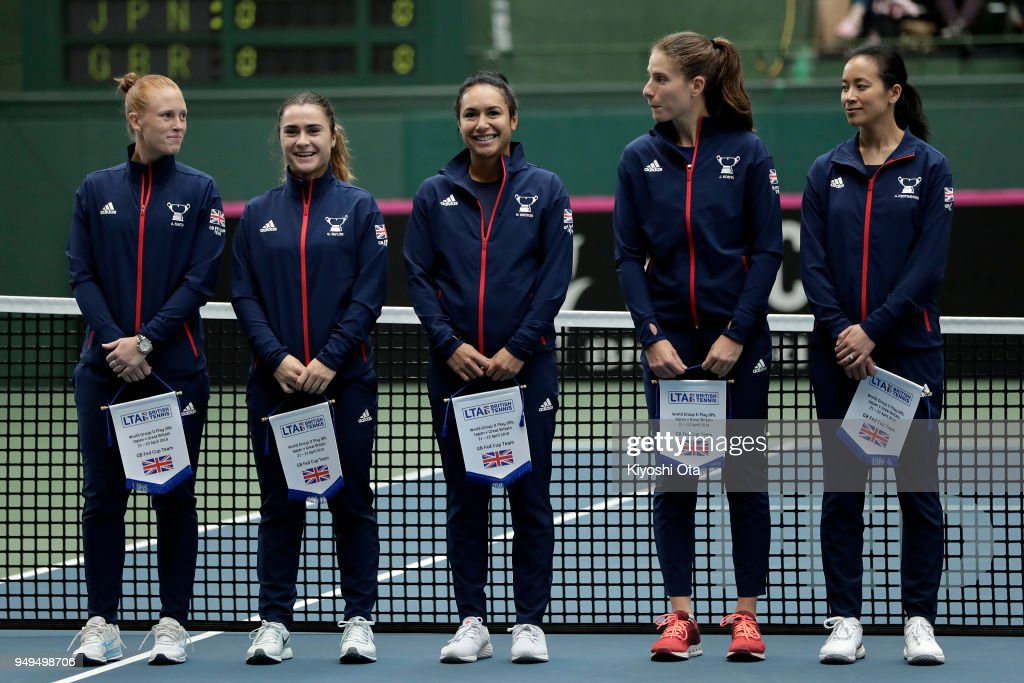 Japan v Great Britain - Fed Cup World Group II Play-Off - Day 1 : News Photo