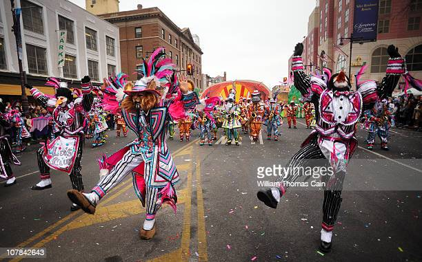 Members of the Greater Kensington String Band perform during the 2011 Mummers Parade January 1 2011 in Philadelphia Pennsylvania Thousands of people...