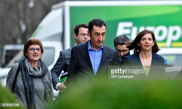 Members of the Greens arrive for further exploratory talks with members of potential coalition parties to form a new government on November 13 2017...
