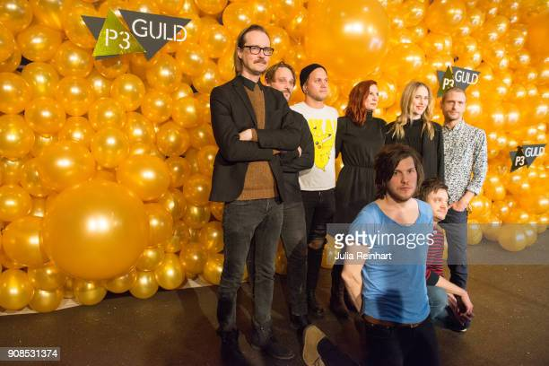 Members of the group Avantgarde and their entourage arrive at the P3 Guld Gala Swedish Radio's celebration of the best in Swedish Music on January 20...