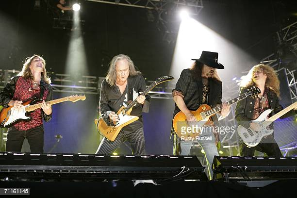Members of the group Lynyrd Skynyrd perform at the 2006 CMA Music Festival Thursday June 8 2006 in Nashville Tennessee