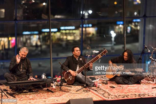 Members of the group Melodic Intersect perform during the South Asian Music and Arts Association's IndoJazz Festival in the Appel Room of Frederick P...