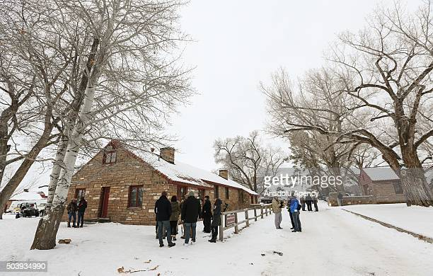 Members of the group occupying the Malheur National Wildlife Refuge headquarters are seen at the occupied refuge on the sixth day of the occupation...