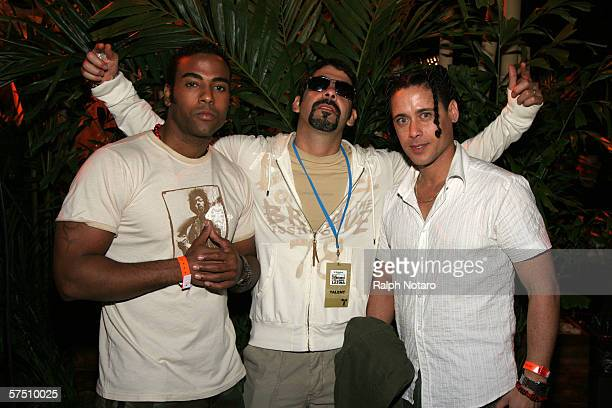 Members of the group Orishas are seen during the 2006 Billboard Latin Music Awards afterparty hosted by Telemundo in Pangaea Nightclub at the...