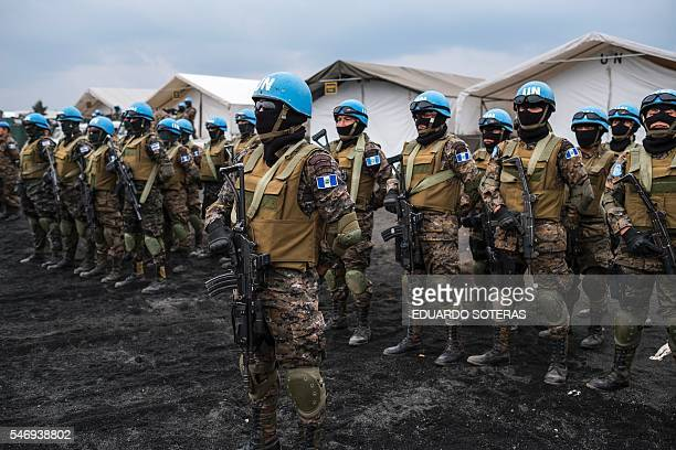 """Members of the Guatemalan Special Forces """"Kaibil"""", stationed in the Democratic Republic of the Congo as part of the United Nations MONUSCO..."""