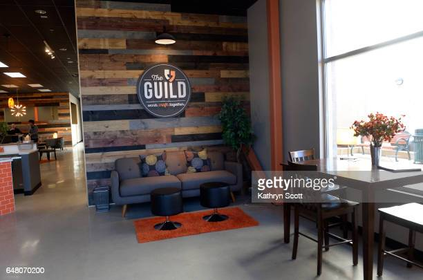 Members of The Guild make use of their new coworking space on March 1 2017 in Englewood Colorado According to staff there they are the second...