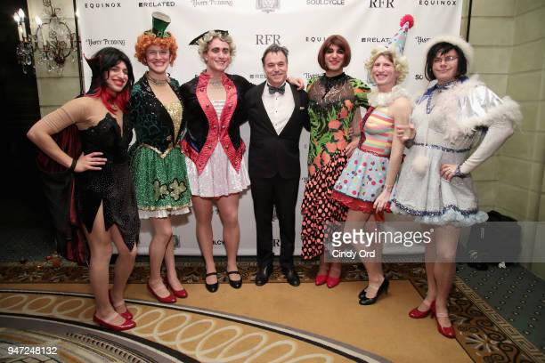 Members of the Hasty Pudding cast and honoree Derek McLane attend as the Hasty Pudding Institute awards Derek McLane with the Order of the Golden...