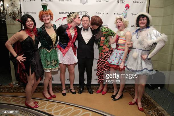 Members of the Hasty Pudding cast and host Andrew Farkas attend as the Hasty Pudding Institute awards Derek McLane with the Order of the Golden...