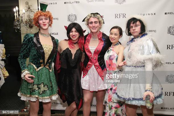 Members of the Hasty Pudding cast attend as the Hasty Pudding Institute awards Derek McLane with the Order of the Golden Sphinx at The Pierre Hotel...