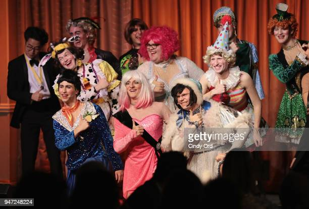 Members of the Hasty Pudding cast perform as the Hasty Pudding Institute awards Derek McLane with the Order of the Golden Sphinx at The Pierre Hotel...