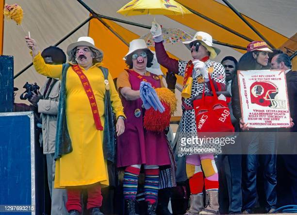 """Members of the """"Hogettes"""" led by Michael """"Boss Hogette"""" Torbert at Super Bowl pregame pep rally outside the RFK stadium Washington, DC. January..."""
